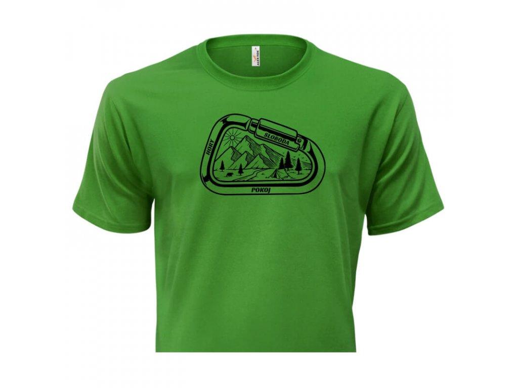 pánske tričko rámik • Hory zelené tričko titulka