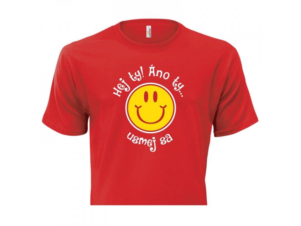 pánske tričko rámik • Hej Ty červené tričko titulka