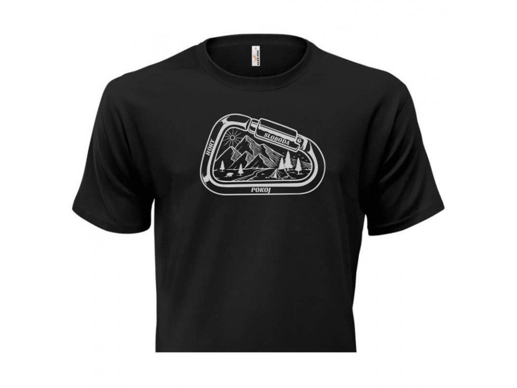 pánske tričko rámik • Hory čierne tričko titulka