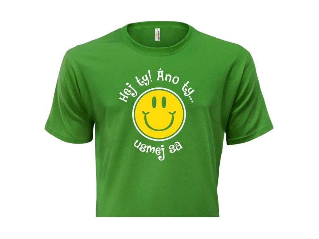 pánske tričko rámik • Hej Ty zelené tričko titulka