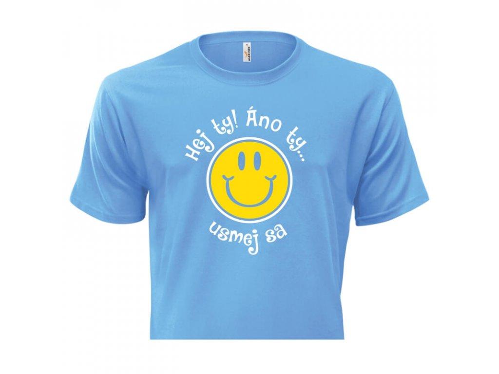 pánske tričko rámik • Hej Ty svetlomodré tričko titulka