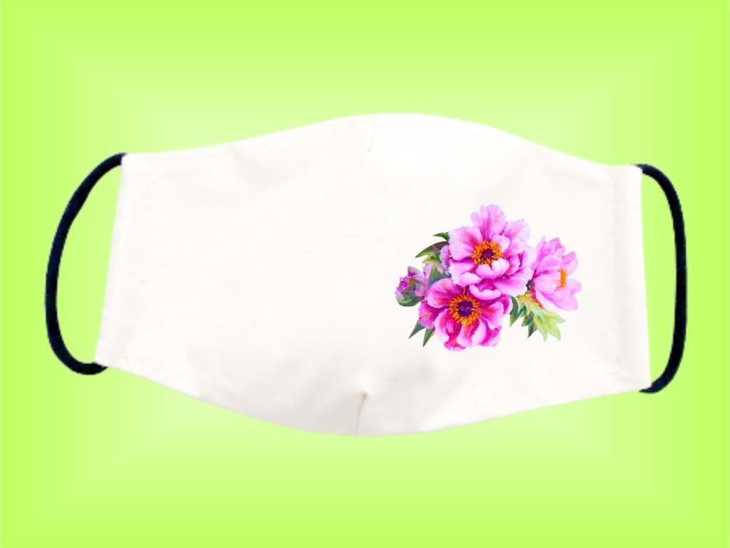 Rúško KVET RUŽOVÝ bavlnené dvojvrstvové FOTOpošta