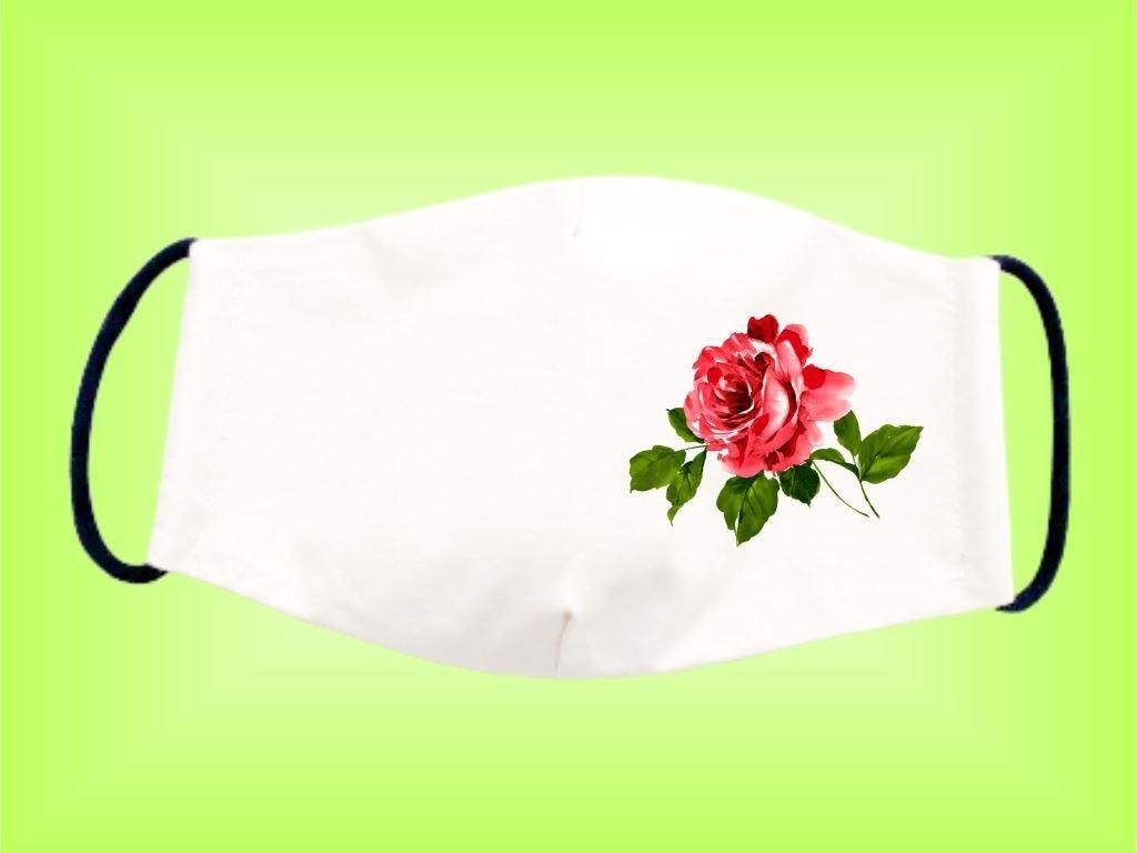 Rúško RUŽA bavlnené dvojvrstvové FOTOpošta