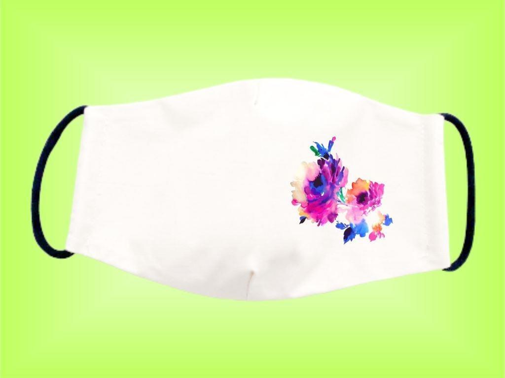 Rúško KVET 2 bavlnené dvojvrstvové