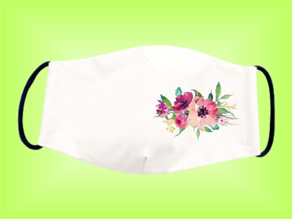 Rúško KVETY 2 bavlnené dvojvrstvové FOTOpošta