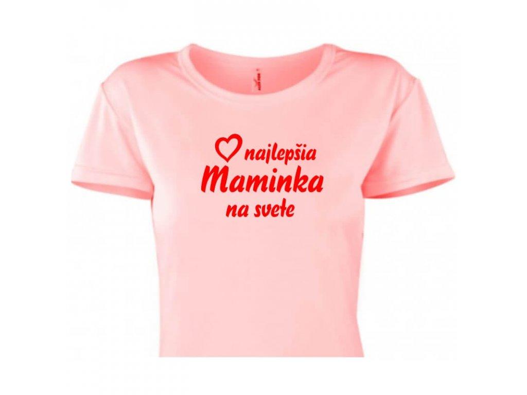 dámske tričko rámik • Najlepšia maminka ružové tričko titulka