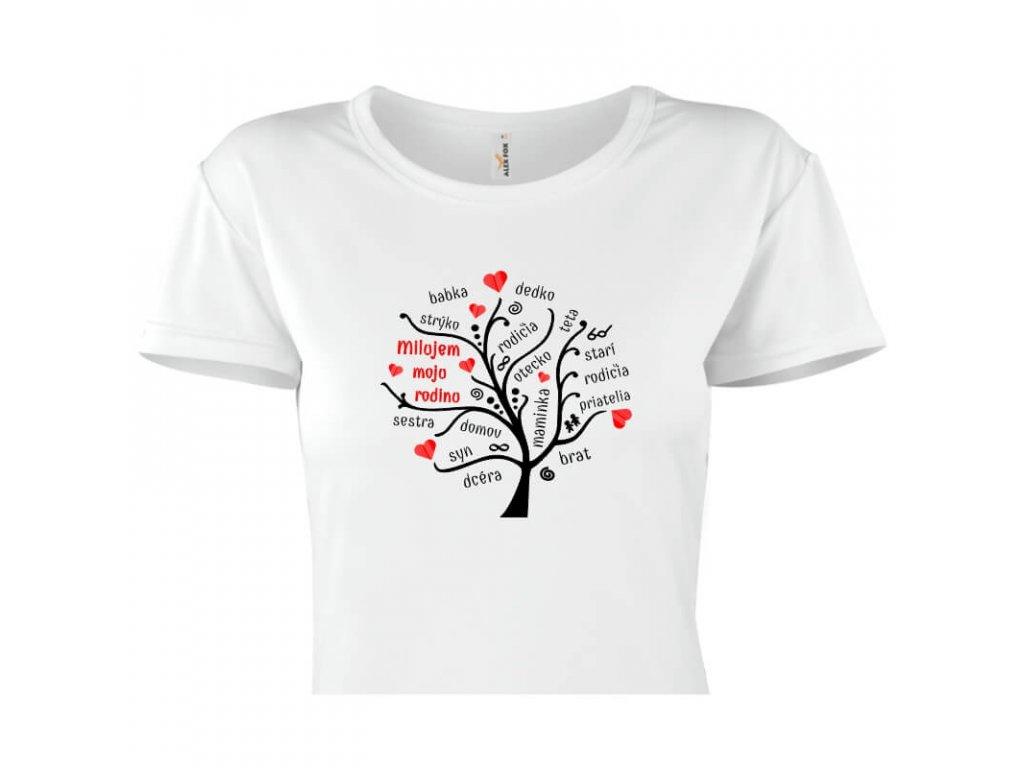dámske tričko rámik • Rodina titulka