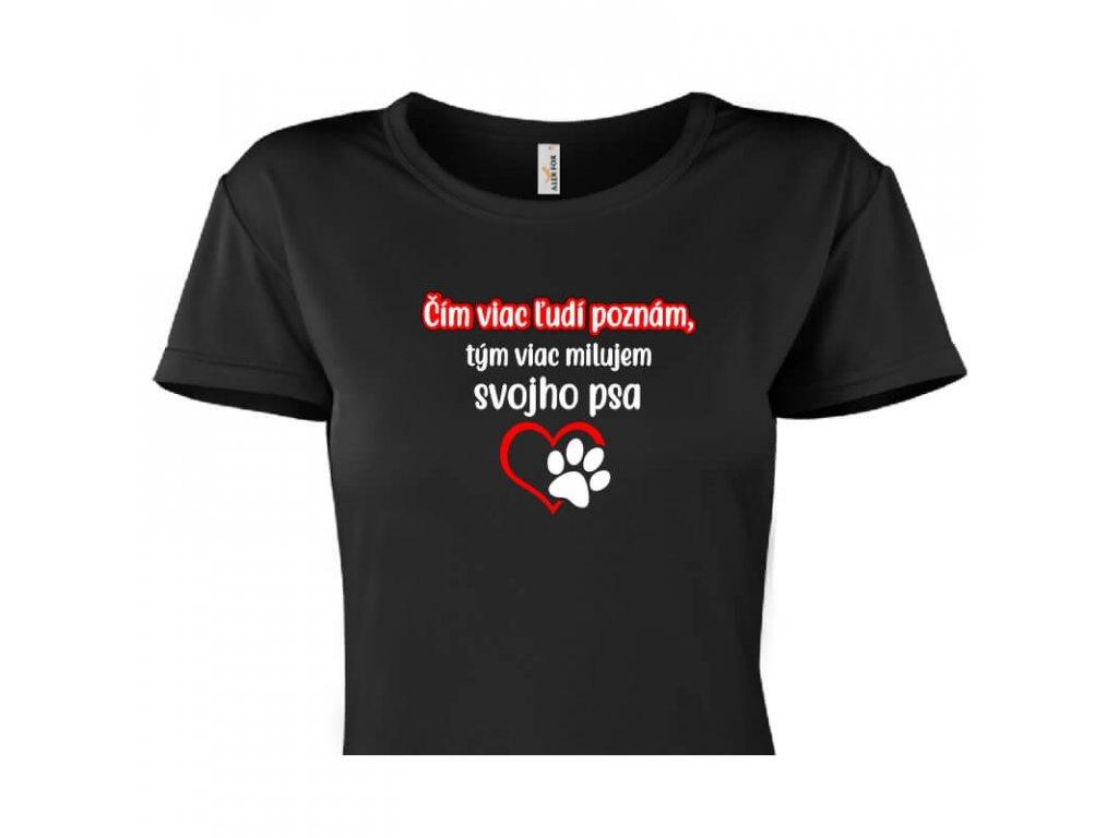 dámske tričko rámik • Pes čierne tričko titulka