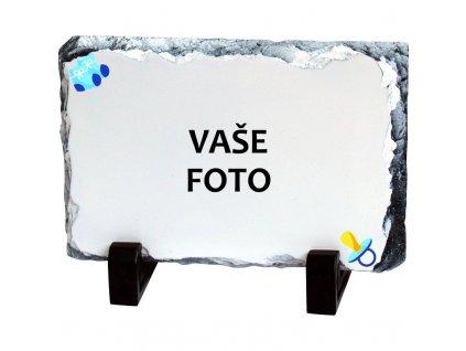 Foto kameň rámik CUMLÍK modrý 19x14 cm FOTOpošta
