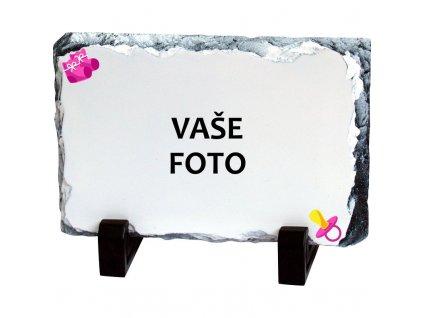 Foto kameň rámik CUMLÍK ružový 19x14 cm FOTOpošta