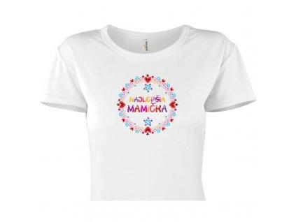 dámske tričko rámik • Najlepšia mamička titulka