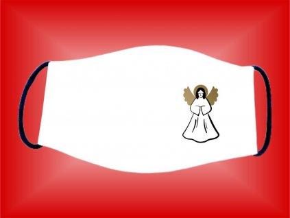 Rúško Anjel bavlnené dvojvrstvové FOTOpošta