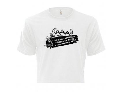 pánske tričko rámik • Cyklista biele tričko titulka