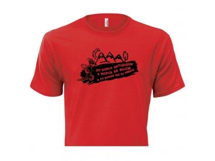 pánske tričko rámik • Cyklista červené tričko titulka