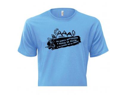 pánske tričko rámik • Cyklista svetlomodré tričko titulka