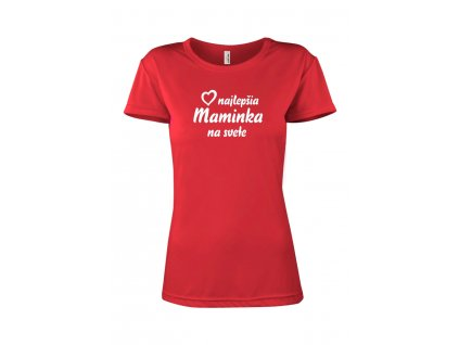 Tričko Maminka Dámsky strih FOTOpošta červené