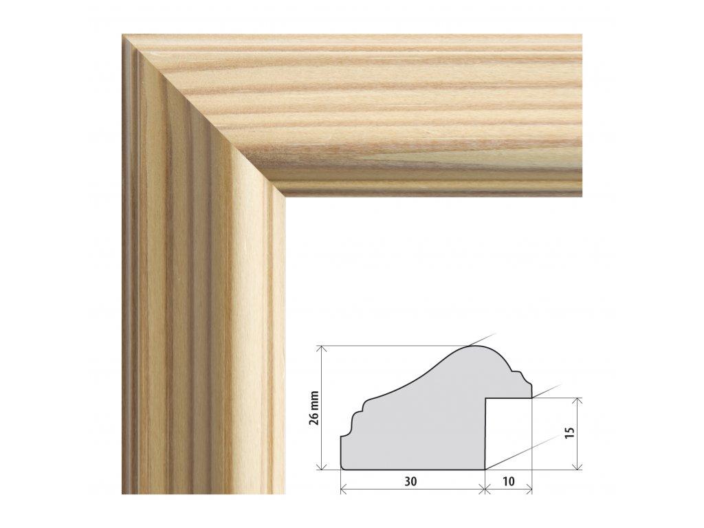Fotorámeček A4 (21x29,7 cm) Cordoba přírodní s plexisklem (Plexisklo čiré)