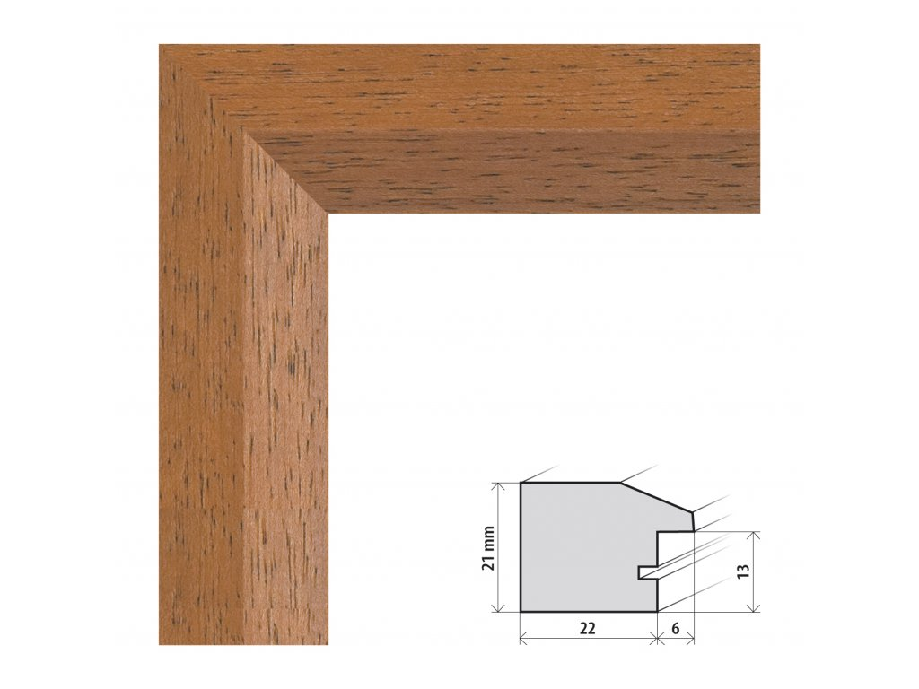 Fotorámeček 13x18 cm Dresden hnědá s plexisklem (Plexisklo čiré)