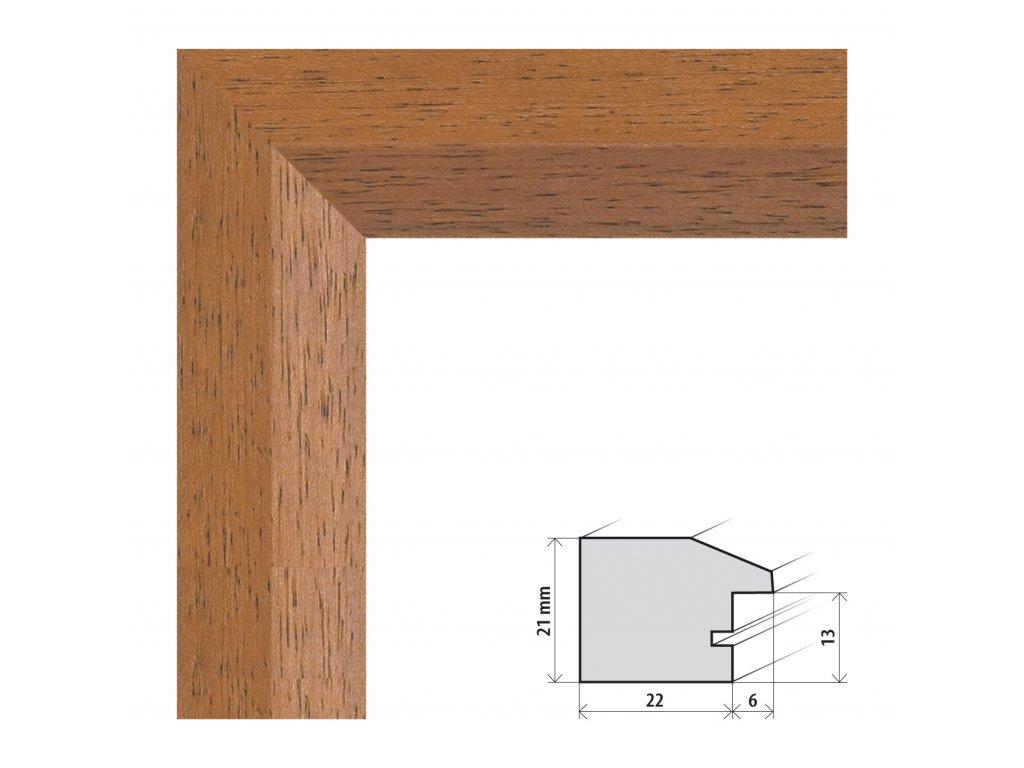 Fotorámeček 20x20 cm Dresden hnědá s plexisklem (Plexisklo čiré)