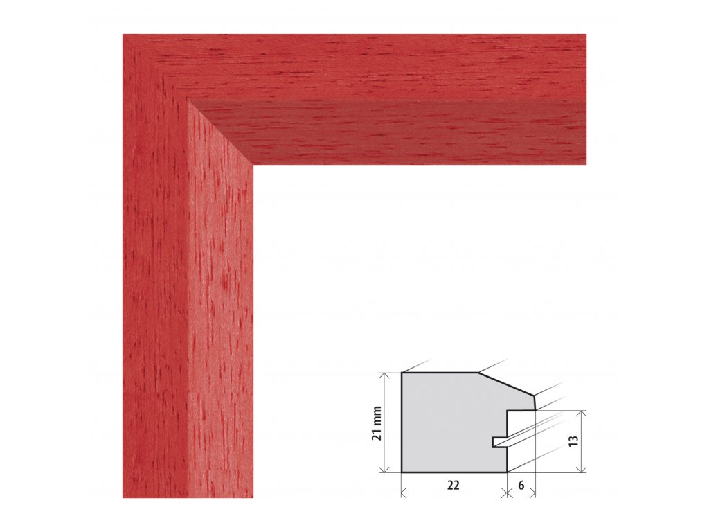 Fotorámeček A2 (42x59,4 cm) Dresden červená s plexisklem (Plexisklo čiré)