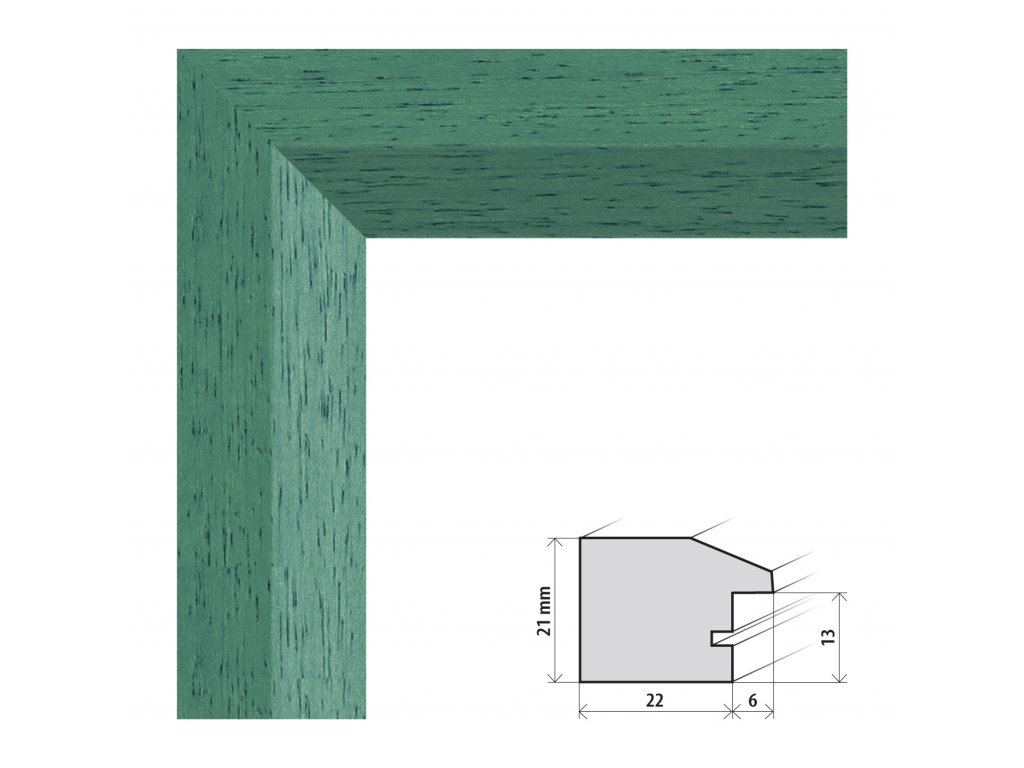 Fotorámeček 60x80 cm Dresden zelená s plexisklem (Plexisklo čiré)