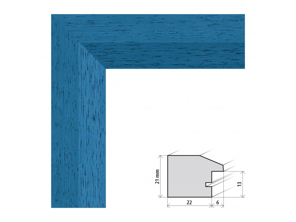 Fotorámeček 24x30 cm Dresden modrá s plexisklem (Plexisklo čiré)