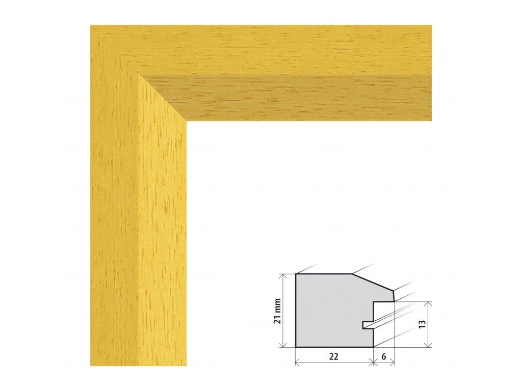 Fotorámeček 10x15 cm Dresden žlutá s plexisklem (Plexisklo čiré)