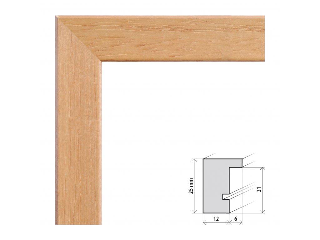 Fotorámeček 20x20 cm Kiel buk s plexisklem (Plexisklo čiré)