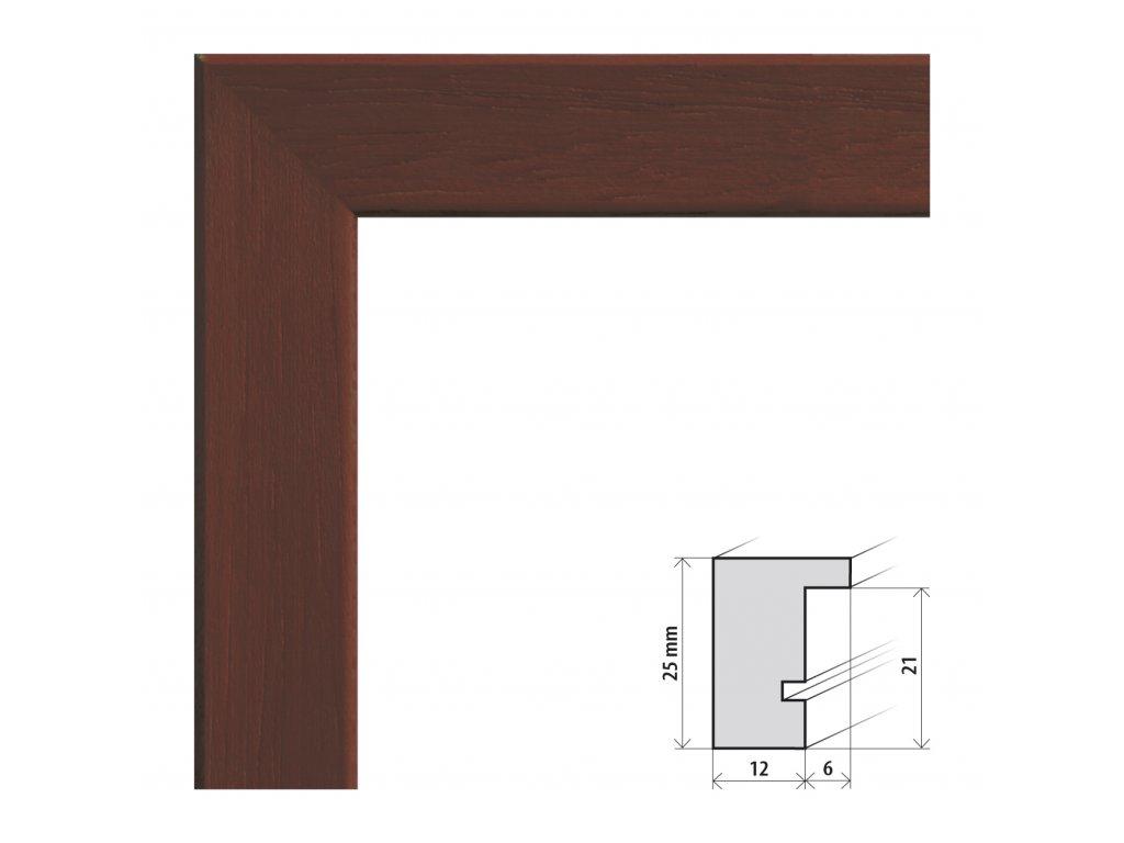 Fotorámeček 20x20 cm Kiel wenge s plexisklem (Plexisklo čiré)