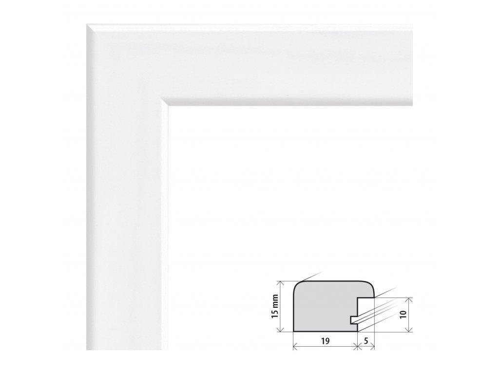 Fotorámeček 40x50 cm Modena bílá s plexisklem (Plexisklo čiré)
