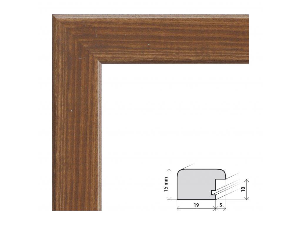 Fotorámeček 50x70 cm Modena ořech s plexisklem (Plexisklo čiré)