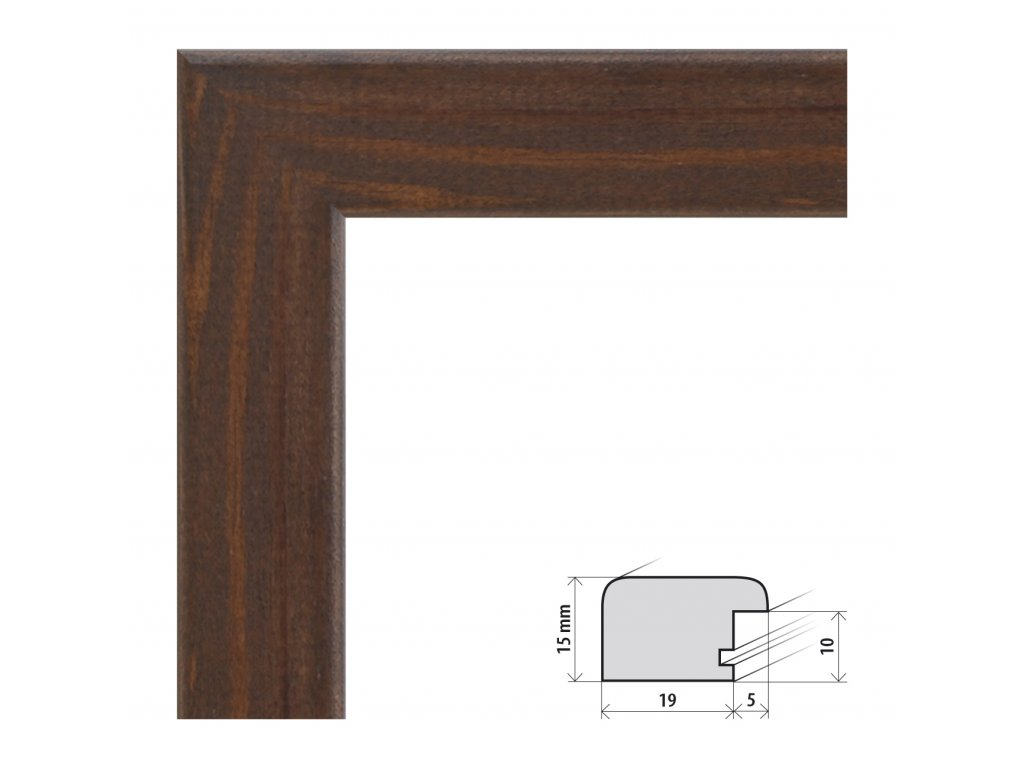 Fotorámeček 40x40 cm Modena wenge s plexisklem (Plexisklo čiré)