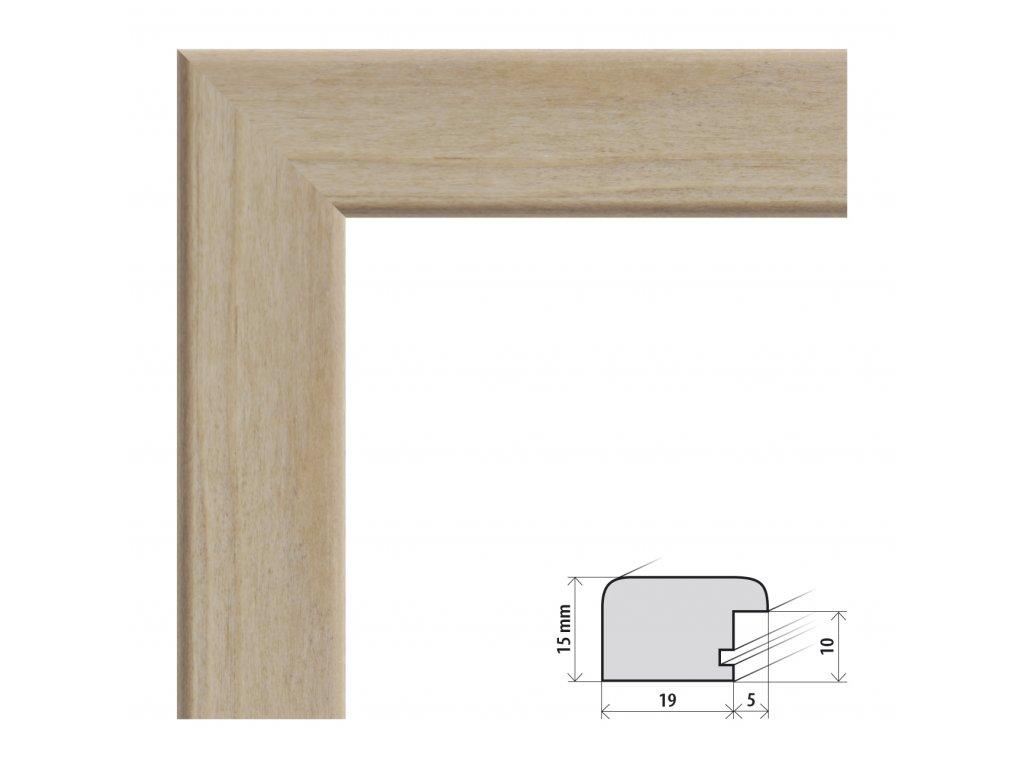 Fotorámeček A3 (29,7x42 cm) Modena dub s plexisklem (Plexisklo čiré)