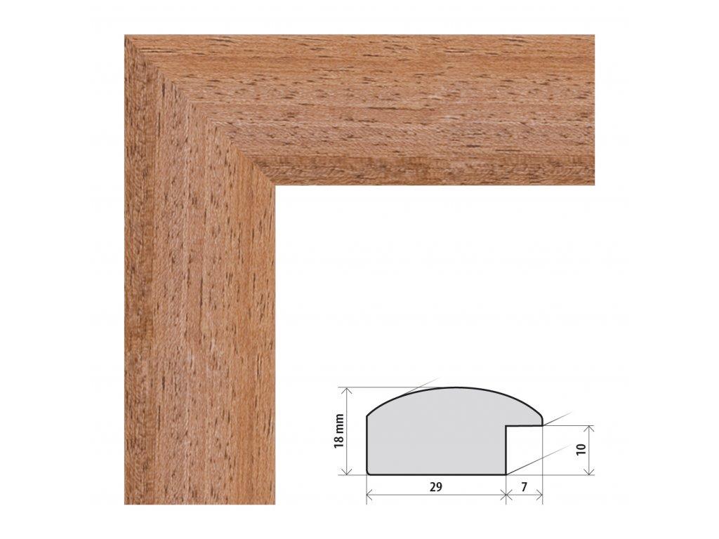 Fotorámeček 60x60 cm Palermo světle hnědá s plexisklem (Plexisklo čiré)