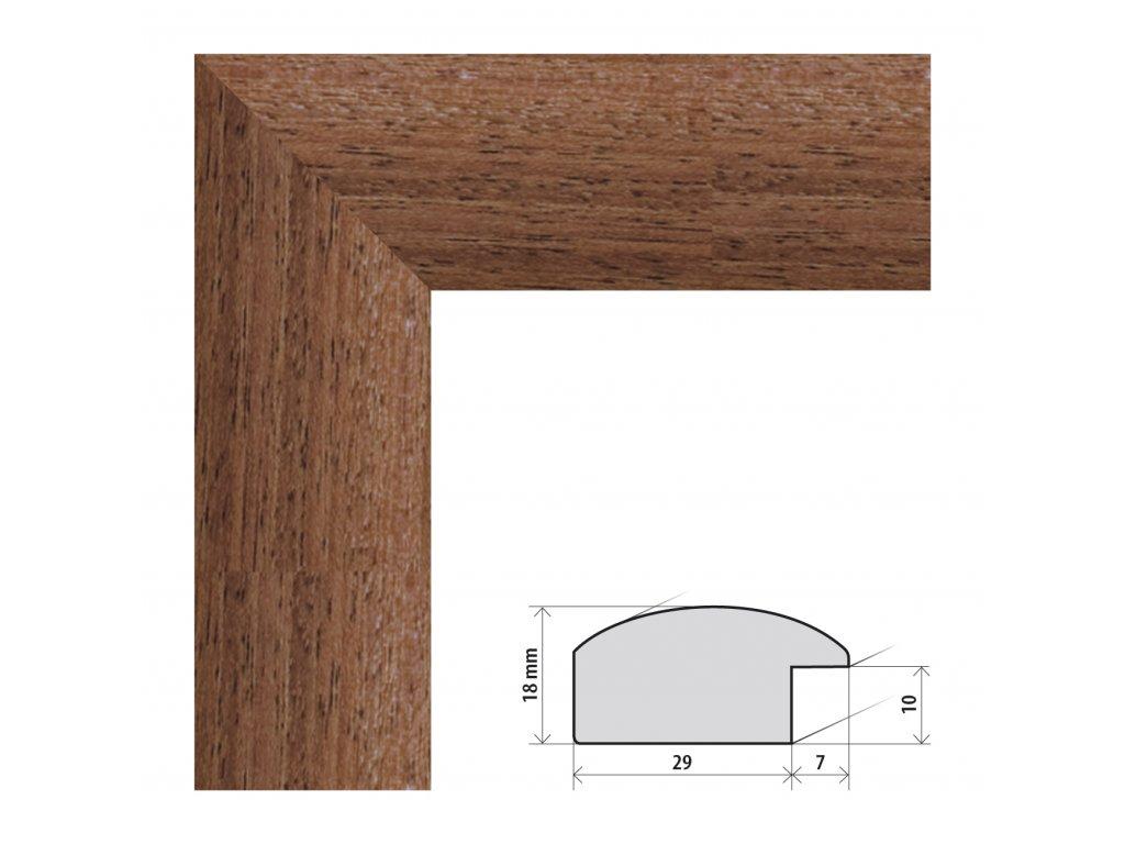 Fotorámeček 20x20 cm Palermo hnědá s plexisklem (Plexisklo čiré)