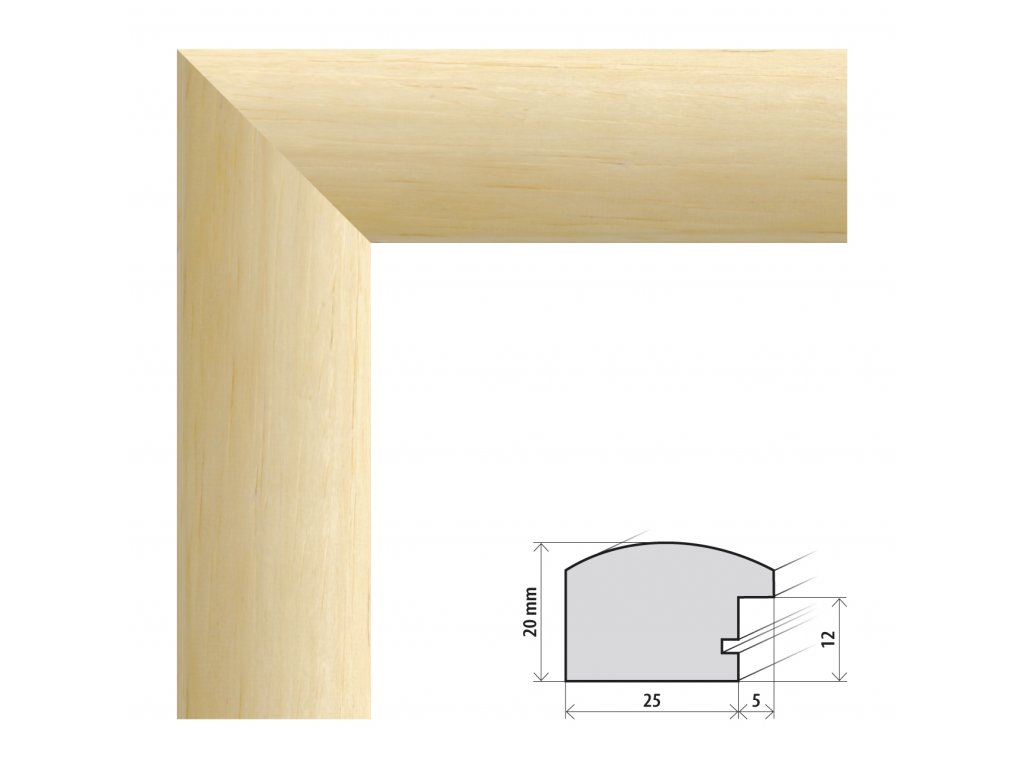 Fotorámeček 13x18 cm Parma přírodní s plexisklem (Plexisklo čiré)