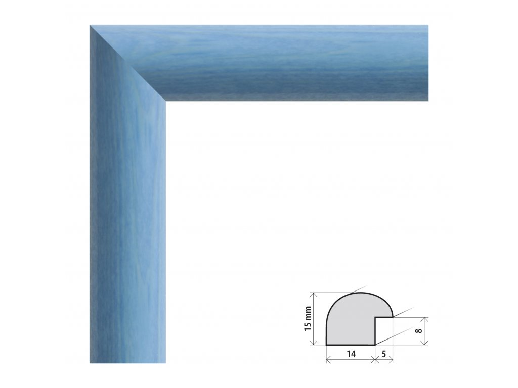 Fotorámeček 20x28 cm Roma tyrkysová s plexisklem (Plexisklo čiré)