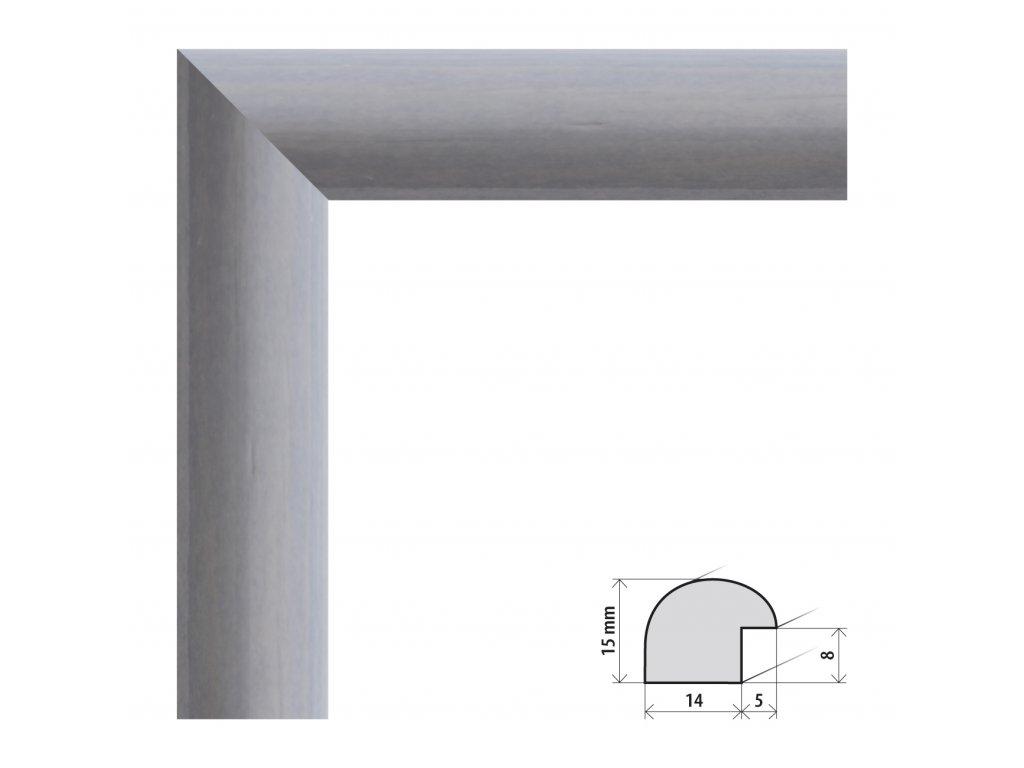 Fotorámeček 15x20 cm Roma šedá s plexisklem (Plexisklo čiré)