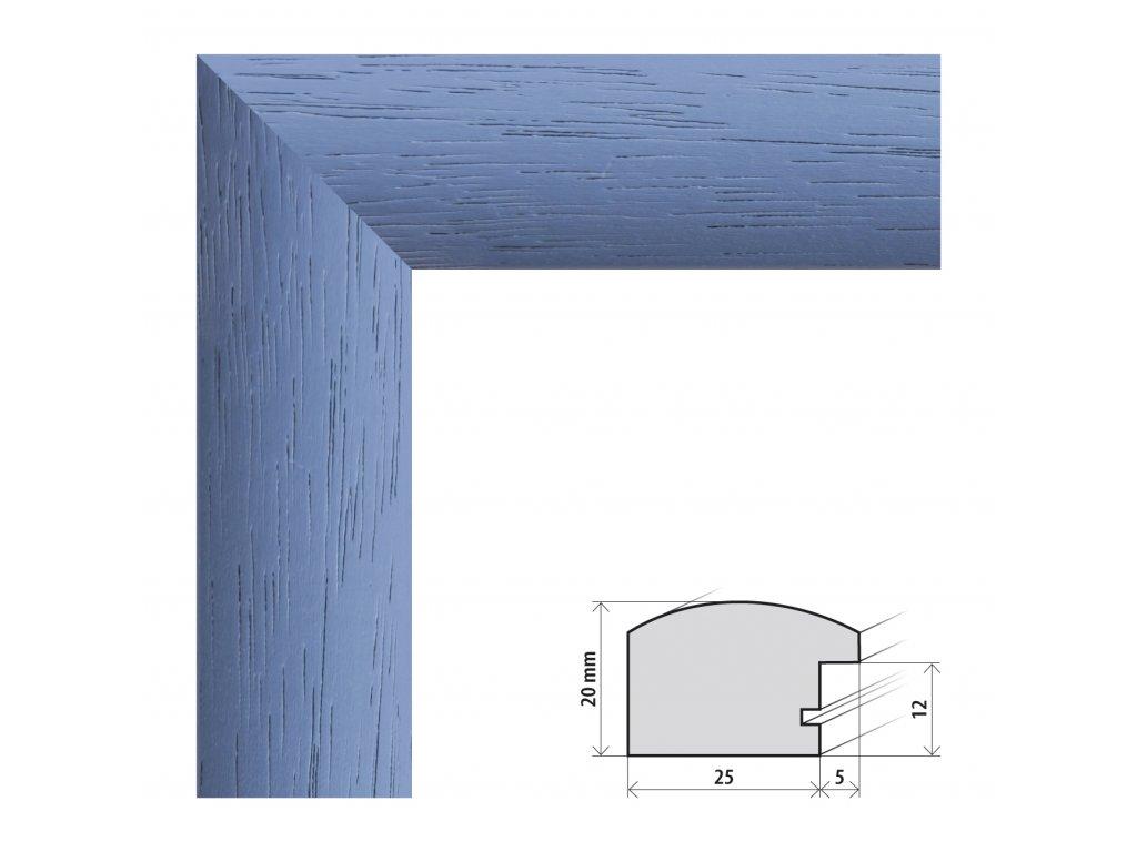 Fotorámeček 20x20 cm Parma modrá s plexisklem (Plexisklo čiré)
