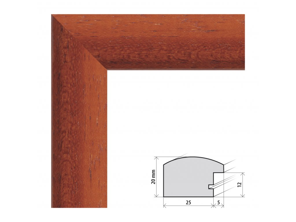 Fotorámeček 30x40 cm Parma třešeň s plexisklem (Plexisklo čiré)