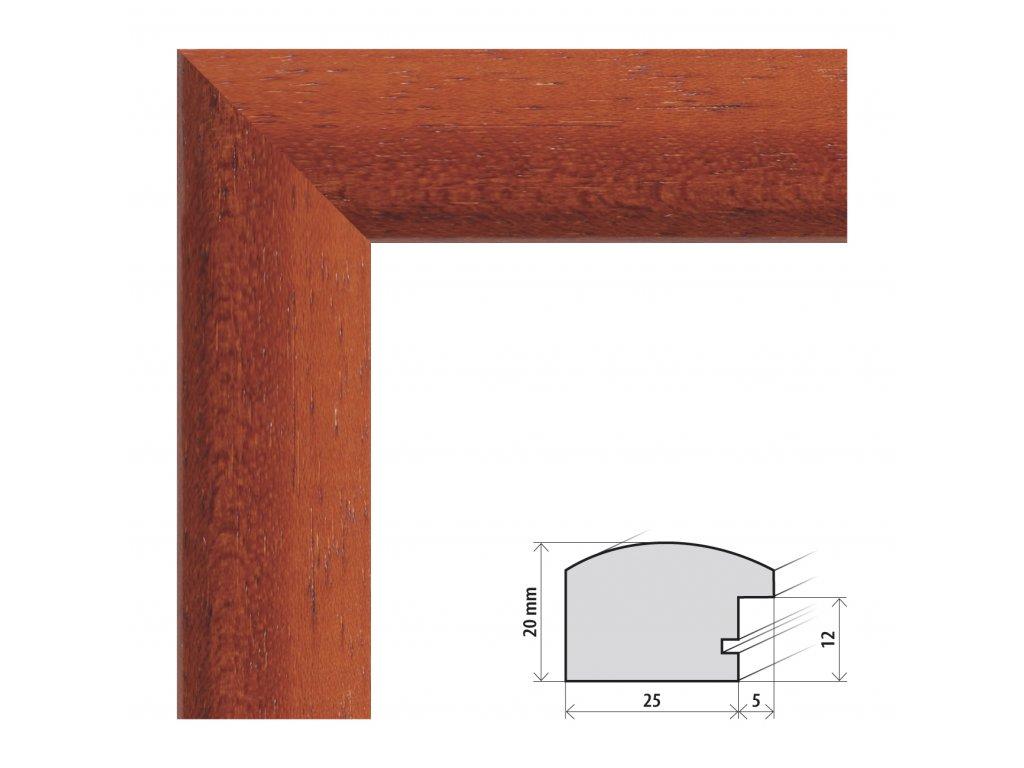 Fotorámeček 60x90 cm Parma třešeň s plexisklem (Plexisklo čiré)