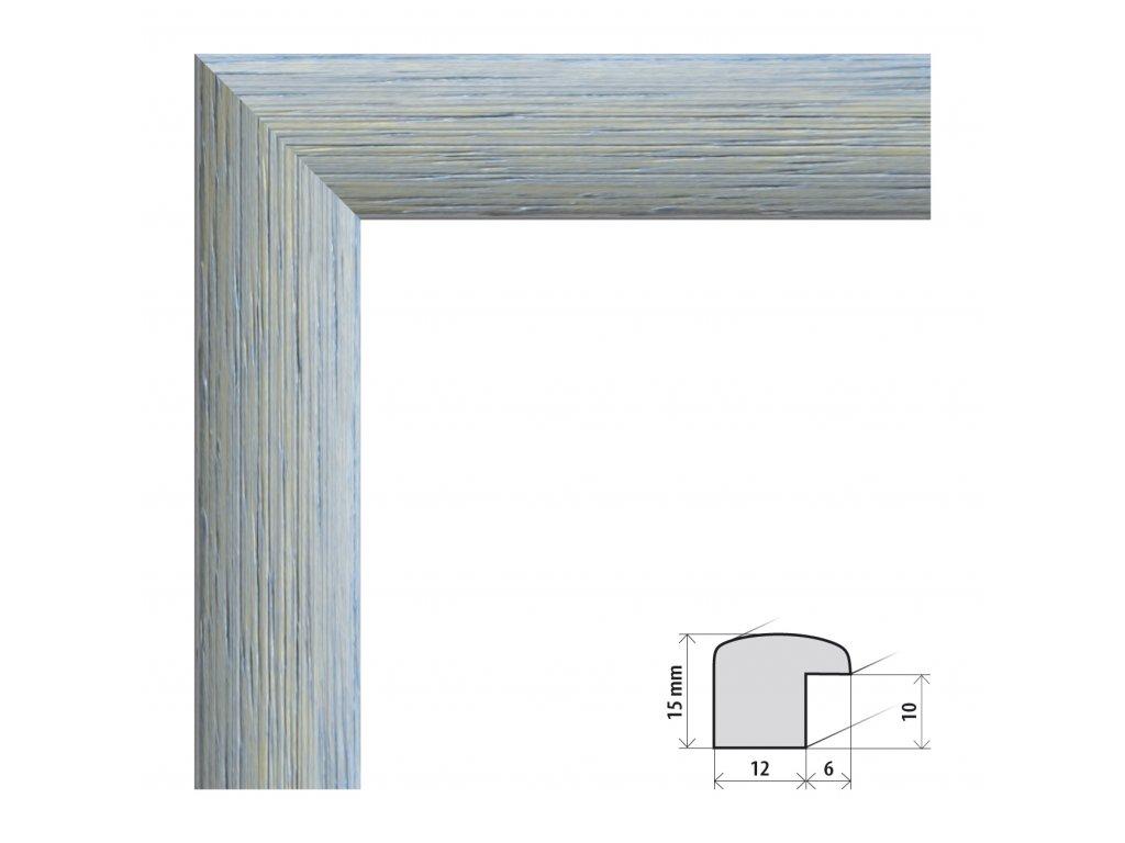 Fotorámeček 50x60 cm Samba RG modrá s plexisklem (Plexisklo čiré)