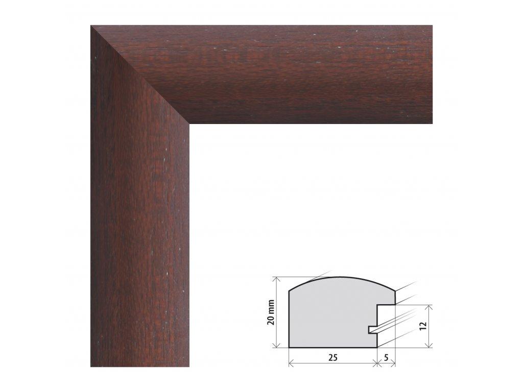 Fotorámeček 50x50 cm Parma wenge s plexisklem (Plexisklo čiré)