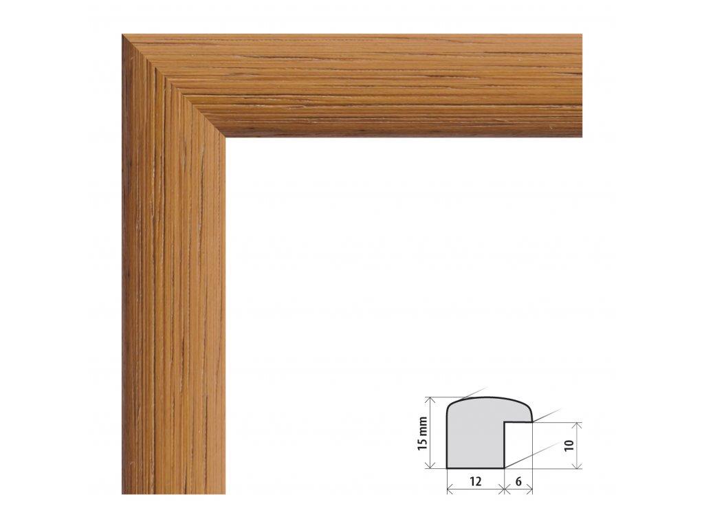 Fotorámeček 50x60 cm Samba světle hnědá s plexisklem (Plexisklo čiré)