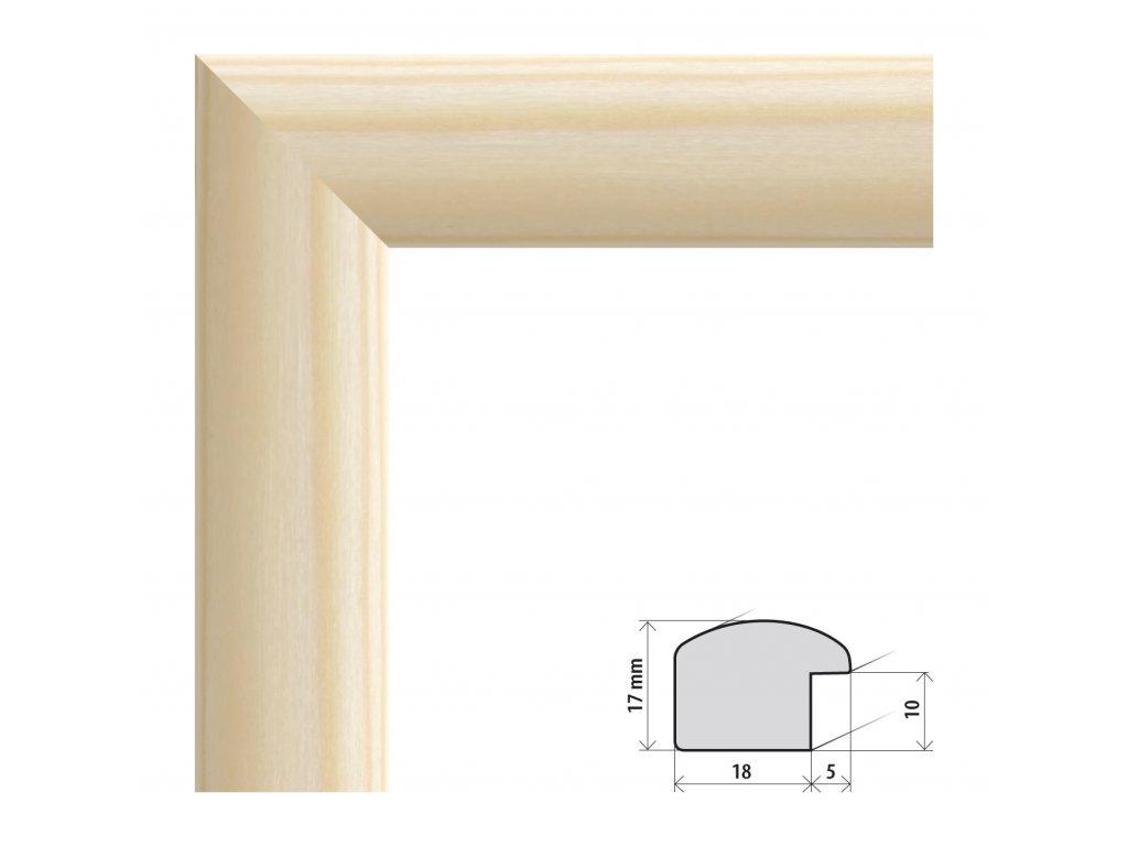 Fotorámeček A4 (21x29,7 cm) Porto přírodní s plexisklem (Plexisklo čiré)
