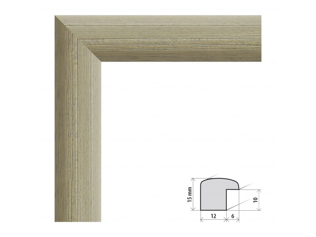 Fotorámeček 13x18 cm Samba RG zelená s plexisklem (Plexisklo čiré)