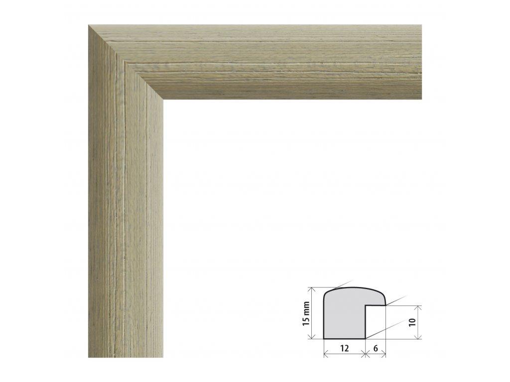 Fotorámeček 40x40 cm Samba RG zelená s plexisklem (Plexisklo čiré)