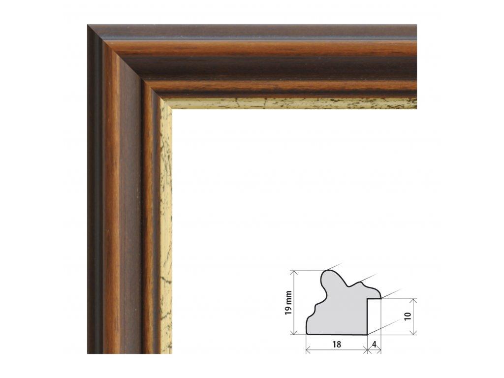 Fotorámeček 40x40 cm Paris s plexisklem (Plexisklo čiré)