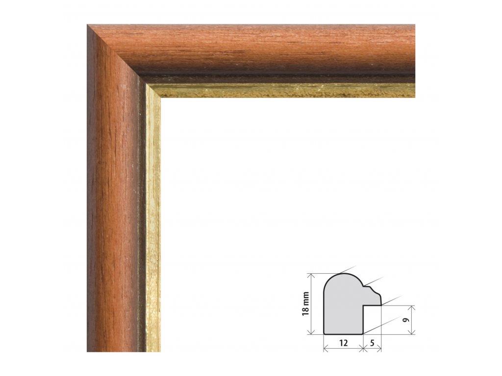 Fotorámeček A4 (21x29,7 cm) Krumlov s plexisklem (Plexisklo čiré)