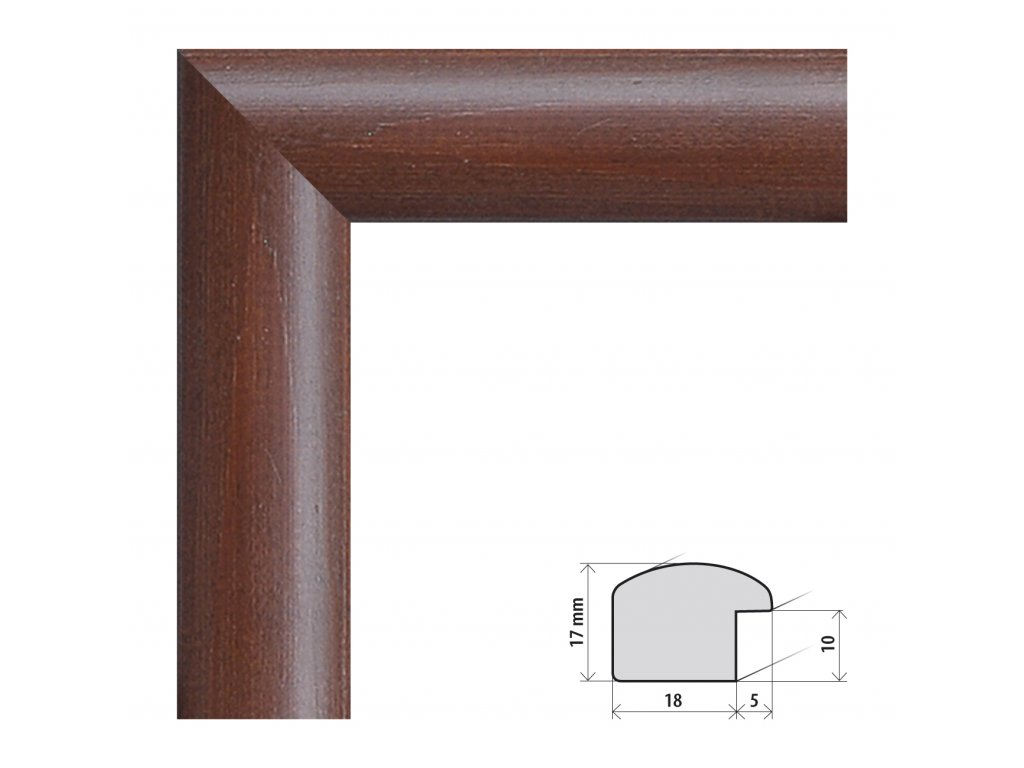 Fotorámeček 60x60 cm Porto tmavě hnědá s plexisklem (Plexisklo čiré)